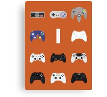 Game Controllers [Orange] Canvas Print