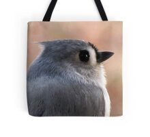 Tufted Titmouse Profile Portrait ... Slick Back Hair Tote Bag