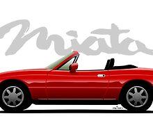 Mazda Miata red by car2oonz