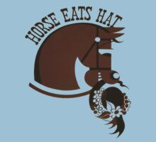 Horse Eats Hat (Brown) by taiche