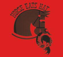 Horse Eats Hat (Brown) Kids Clothes