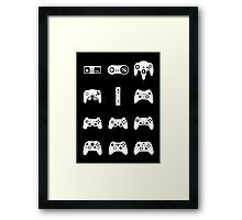 Minimalist Game Controllers  Framed Print