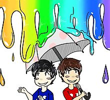Dan & Phil - Melted Crayons by uhmwhatidk