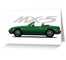 Mazda MX-5 green Greeting Card