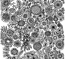Black and White Flowers by Angela Martini