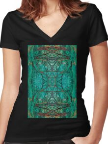 Aya Forest Women's Fitted V-Neck T-Shirt