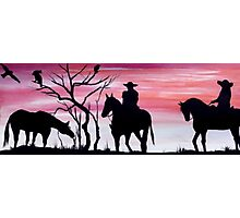 'DAY OFF, ON THE RANCH Photographic Print