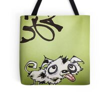 Emerald Ink Puppy Tote Bag
