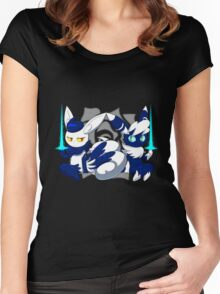 Meowstic Couple Women's Fitted Scoop T-Shirt