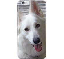 Smiling White German Shepherd Dog  iPhone Case/Skin