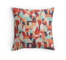 Little town. Throw Pillow