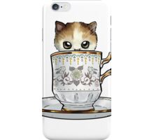 Kitten in a Tea Cup iPhone Case/Skin