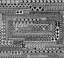Aztec Zentangle Maze by elfinelines