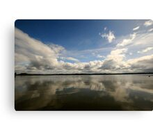 Clouds and Reflection Canvas Print