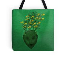 Sea Buffalo Dreaming Green Heart  Tote Bag