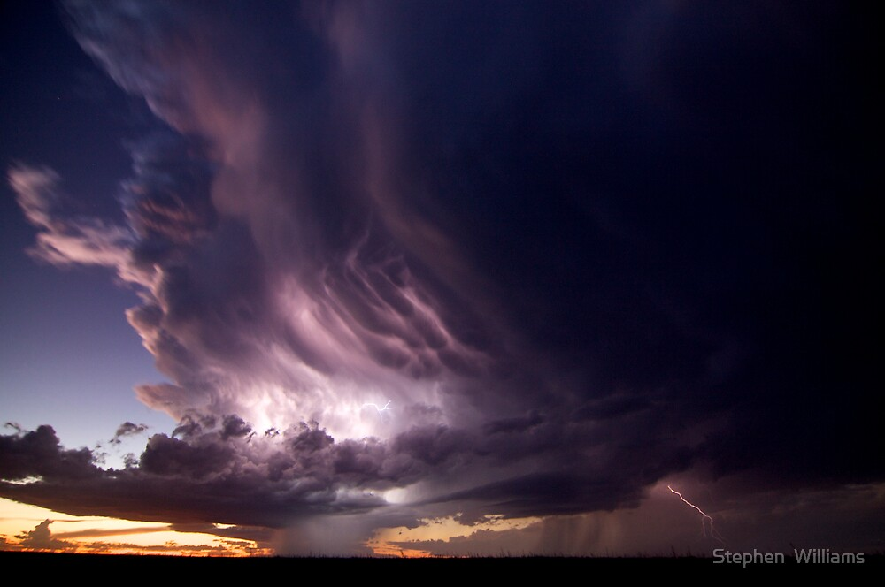 Electrifying Sunset by Stephen  Williams