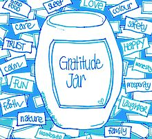 Gratitude Jar (on Blue) by Sammy Nuttall