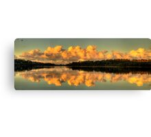 Let Us Reflect - Narrabeen Lakes, Sydney (35 Exposure HDR Panorama) - The HDR Experience Canvas Print