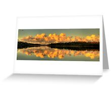 Let Us Reflect - Narrabeen Lakes, Sydney (35 Exposure HDR Panorama) - The HDR Experience Greeting Card