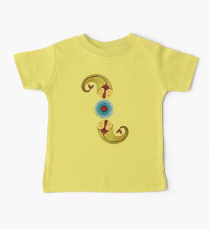 Curious Fish with Water Lily Kids Clothes