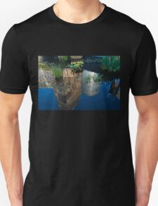 Beautiful Water Garden Reflecting New York Skyscrapers Unisex T-Shirt
