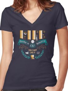 Marvin On Life Women's Fitted V-Neck T-Shirt