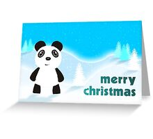 Merry Christmas Panda Greeting Card