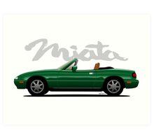 Mazda Miata green Art Print