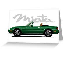 Mazda Miata green Greeting Card