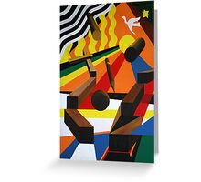 Wooden Progressions 5 Greeting Card