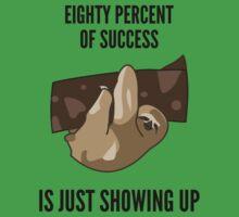 Success Sloth Slogan - Funny Baby Tee
