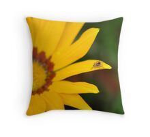 One Giant Leap for Spider-kind Throw Pillow