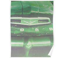 Vintage Green Ford Pickup Poster