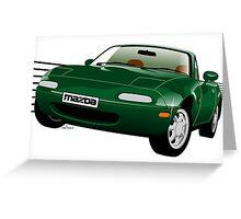 Mazda MX-5/Miata NA green Greeting Card