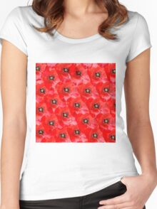 Lots of Poppies Women's Fitted Scoop T-Shirt