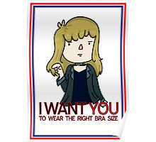 I Want You - Bra Poster