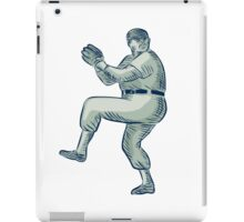 Baseball Pitcher Pitching Etching iPad Case/Skin