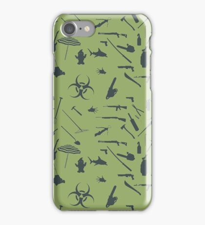 Zombie weapons iPhone Case/Skin