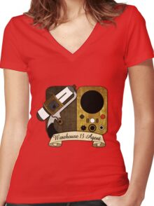 Warehouse 13 Agent Women's Fitted V-Neck T-Shirt