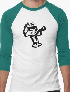 Spiff's Death Ray (White) Men's Baseball ¾ T-Shirt