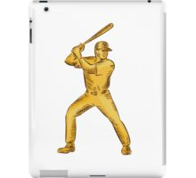 Baseball Batter Batting Bat Etching iPad Case/Skin