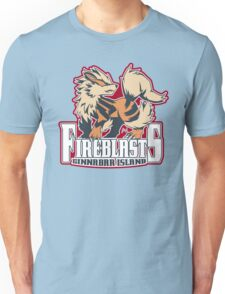 Cinnabar Island Fire Blasts: Arcanine Sport Logo Unisex T-Shirt