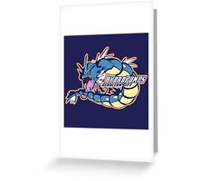 Cerulean City Hydro Pumps: Gyarados Sport Logo Greeting Card