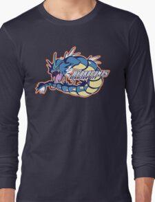 Cerulean City Hydro Pumps: Gyarados Sport Logo Long Sleeve T-Shirt