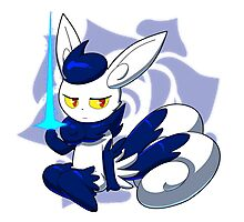 Meowstic (F) Psycho Cut Photographic Print