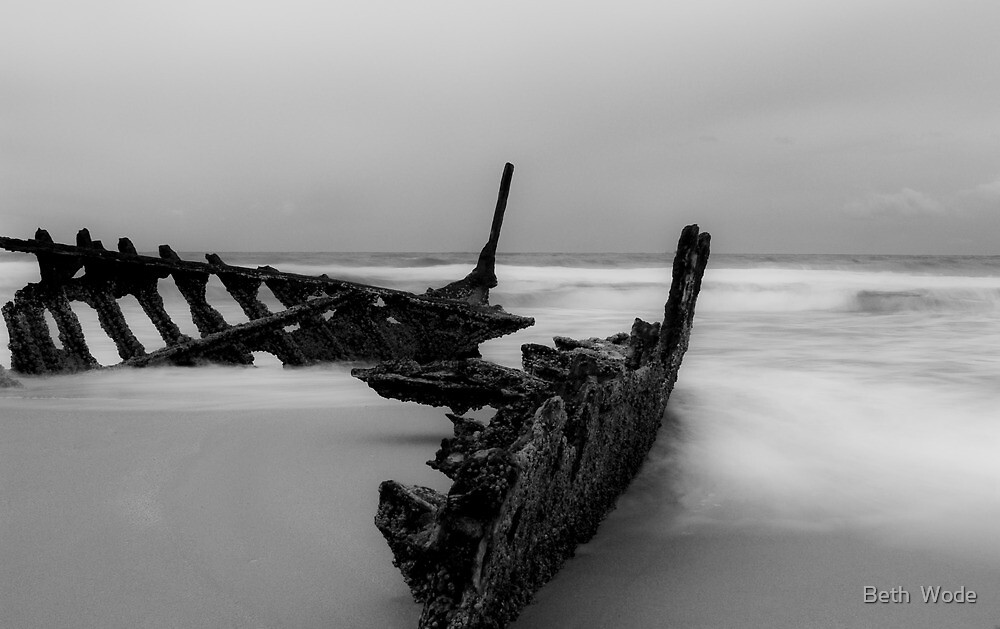 The Dicky Wreck at Caloundra -Queensland Australia by Beth  Wode