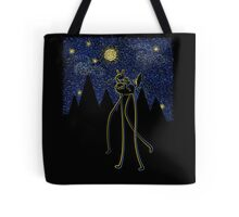 Starry Night Ride Tote Bag