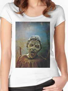 The Lonely assassin or weeping Angel Women's Fitted Scoop T-Shirt