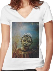 The Lonely assassin or weeping Angel Women's Fitted V-Neck T-Shirt