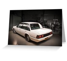 Chris Irvin's Holden VK Commodore Greeting Card